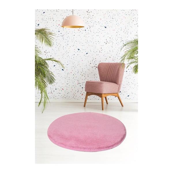 Světle růžový koberec Milano, ⌀90cm