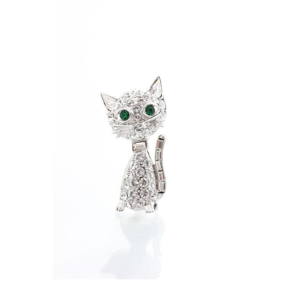 20597b919 Brož se Swarovski Elements Laura Bruni Kitty Cat