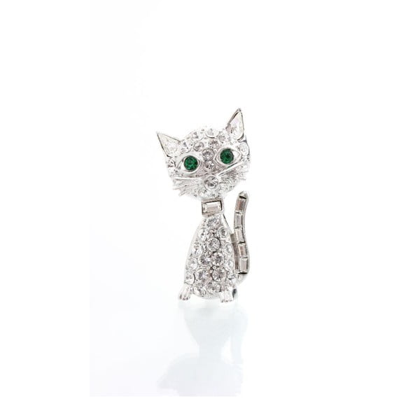 Brož s krystaly Swarovski Elements Laura Bruni Kitty Cat