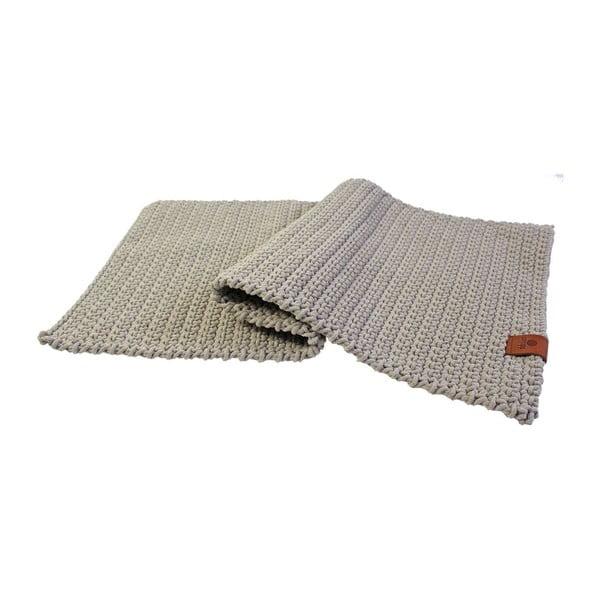 Háčkovaný koberec Catness, béžový, 50x100 cm