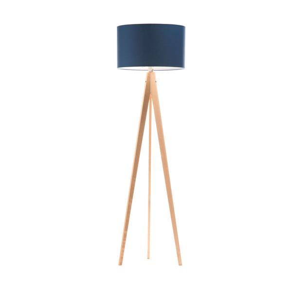 Stojací lampa Artist Dark Blue/Birch, 125x42 cm
