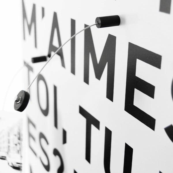 Magneticka tabule dESIGNoBJECT.it E Toi,50x50cm