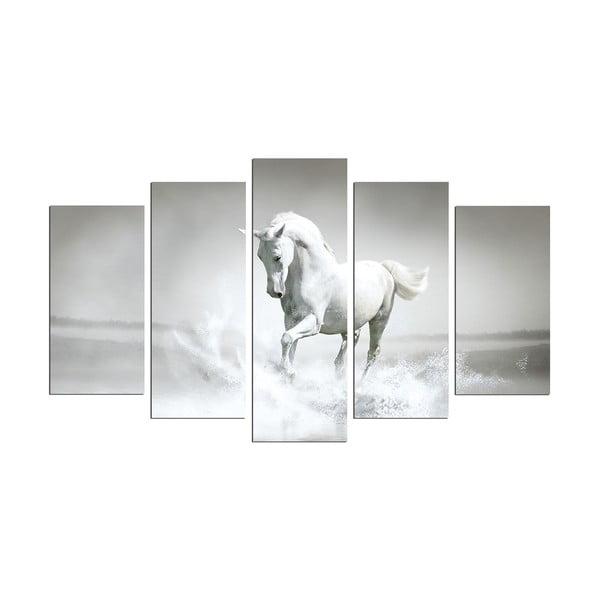 Obraz wieloczęściowy White Horse, 110x60 cm