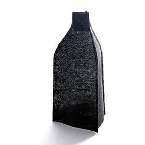 Váza s černým plátěným obalem, 18 cm