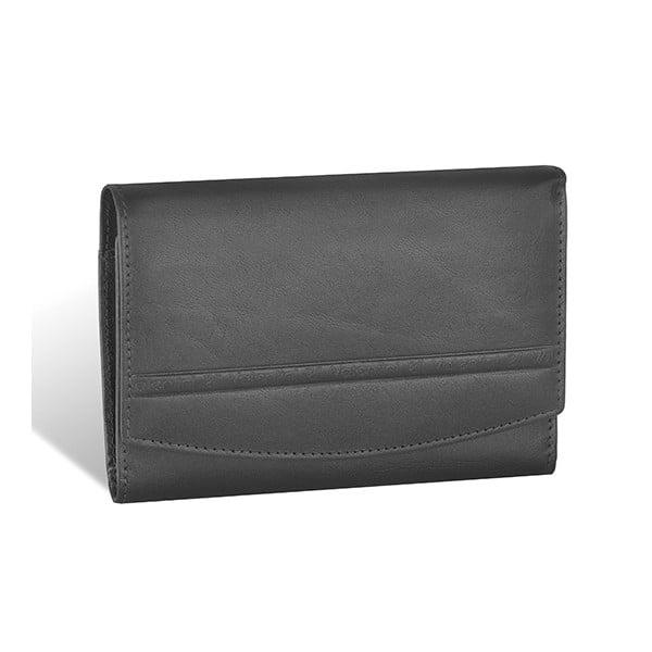 Kožená peněženka Valentini 681, černá