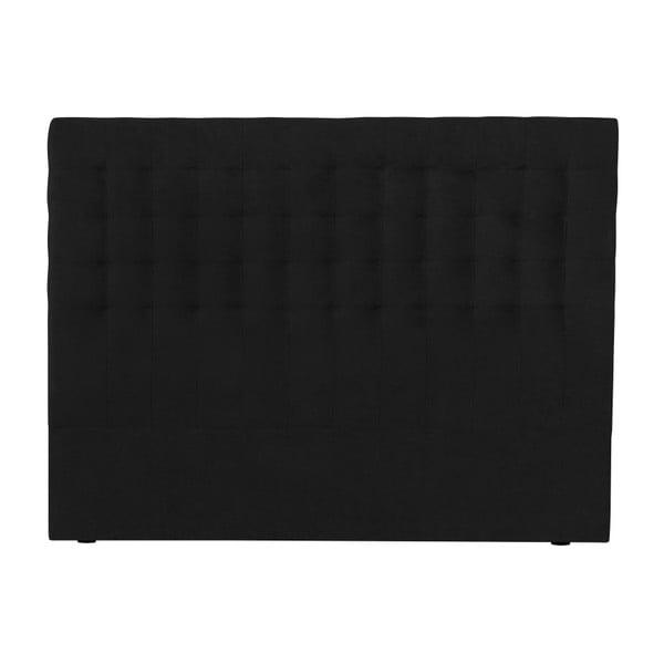 Černé čelo postele Windsor & Co Sofas Nova, 140 x 120 cm