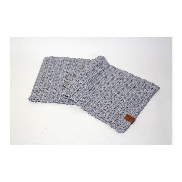 Háčkovaný koberec Catness, šedý, 50x100 cm