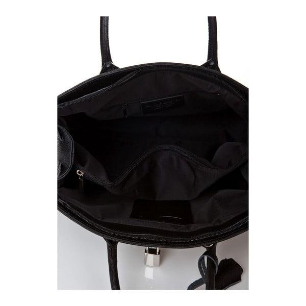 Černá kožená kabelka Giorgio Costa Perugia