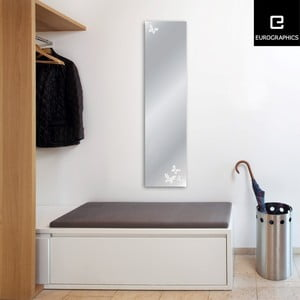 Zrcadlo Eurographics Silver Butterflies,30x120 cm