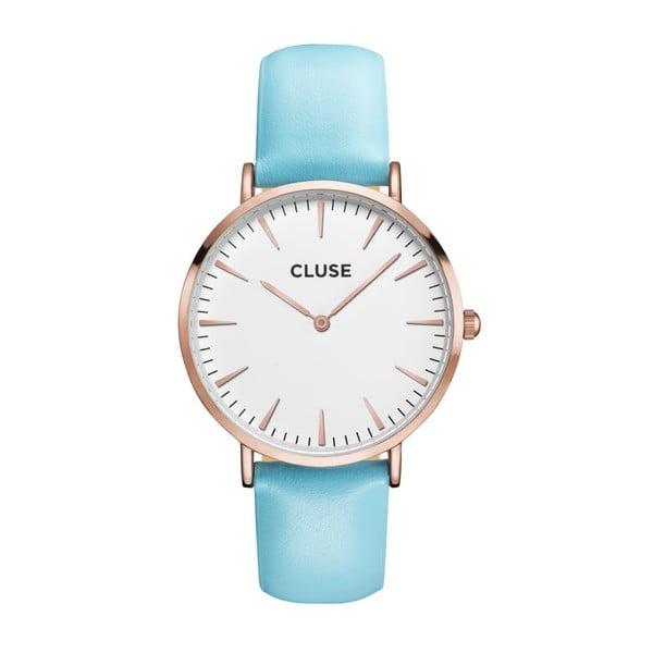 Hodinky Cluse La Bohéme Rose Gold/White Blue