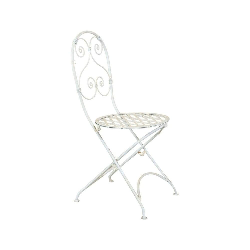 Bílá zahradní skládací židle Crido Consulting Almira