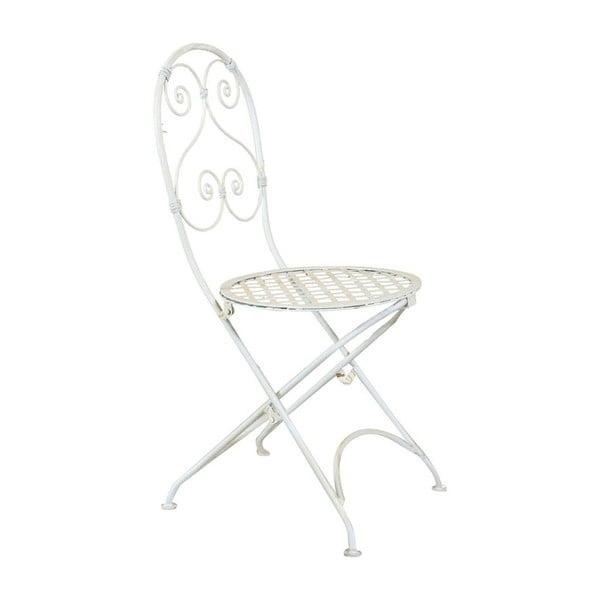 Białe składane krzesło ogrodowe Crido Consulting Almira