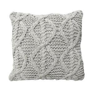 Krémový pletený polštář OVERSEAS,45x45cm