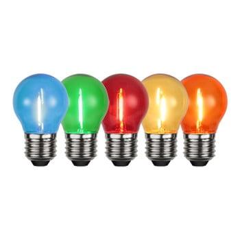 Set 5 becuri colorate cu LED pentru exterior Best Season E27 Outdoor Lighting imagine