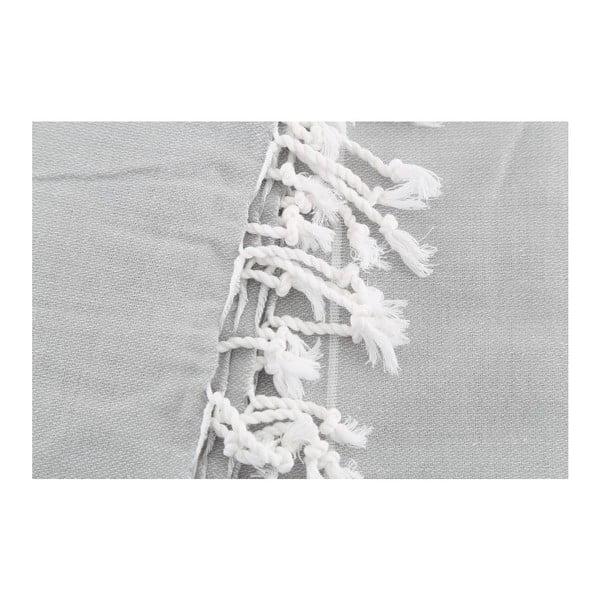 Světle šedá osuška Hammam Sultan, 100x180cm