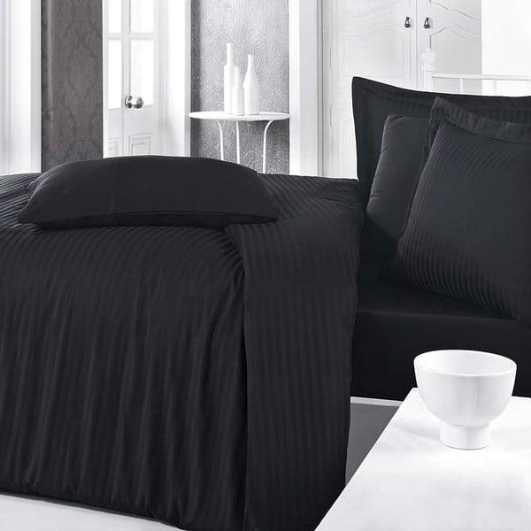 Lenjerie din bumbac cu cearșaf pentru pat dublu Aran Clasy Doriane,200x220cm