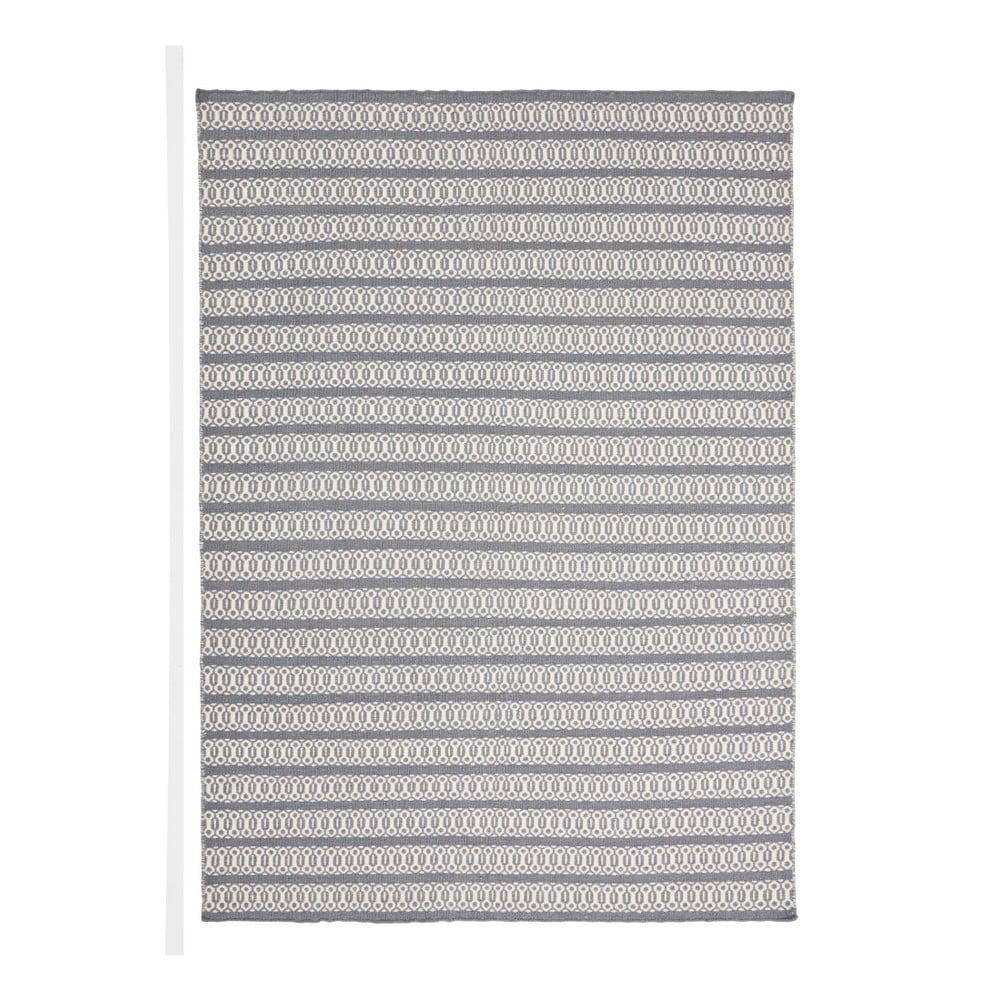 Šedomodrý ručně tkaný koberec Linie Design Valmora, 170 x 240 cm