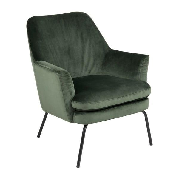 Ciemnozielony fotel Actona Chisa