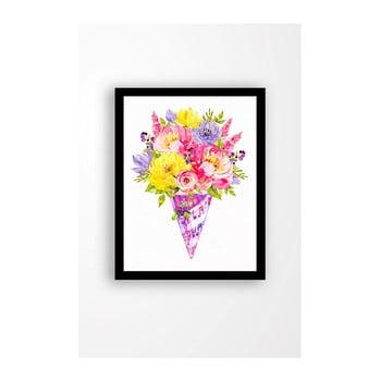 Tablou pe pânză în ramă neagră Tablo Center Bouquet, 29 x 24 cm de la Tablo Center