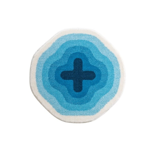 Koupelnová předložka Kolor My World III 90 cm, modrá