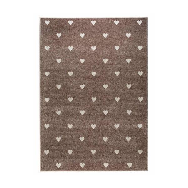 Beige Dots barna, pöttyös szőnyeg, 160 x 230 cm - KICOTI