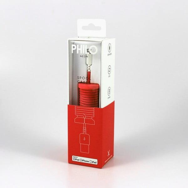 Czerwony kabel USB Apple Philo Energy, dł. 1 m