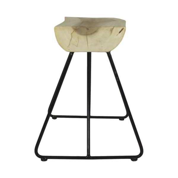 Dřevěná lavice HSM collection Suar, 60 x 47 cm