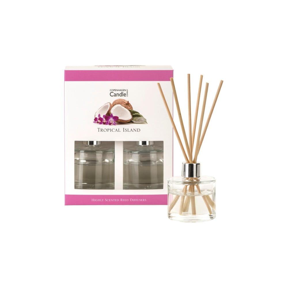 Sada 2 aroma difuzérů Copenhagen Candles Tropical Island, 40 ml