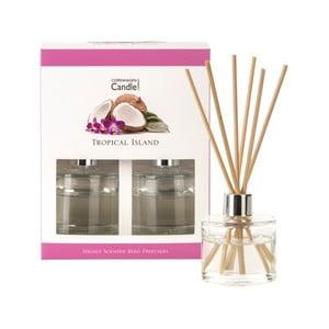 Sada 2 aroma difuzérů s vůní tropického ovoce Copenhagen Candles Tropical Island, 40 ml
