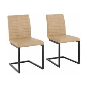 Sada 2 béžových  jídelních židlí Støraa Sandra