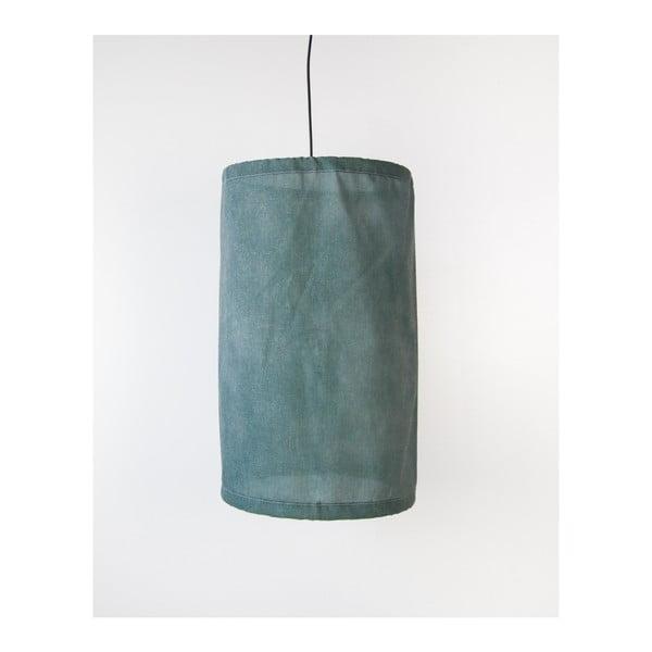 Zöld lenből és fémből készült felfüggeszthető lámpa, ø 35 cm - Surdic