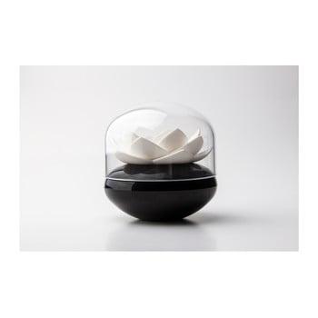 Suport bețișoare pentru urechi Qualy&CO Lotus Cotton Bud, alb-negru de la Qualy&CO