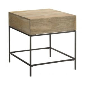 Odkládací stolek z masivního mangového dřeva Massive Home Jenny