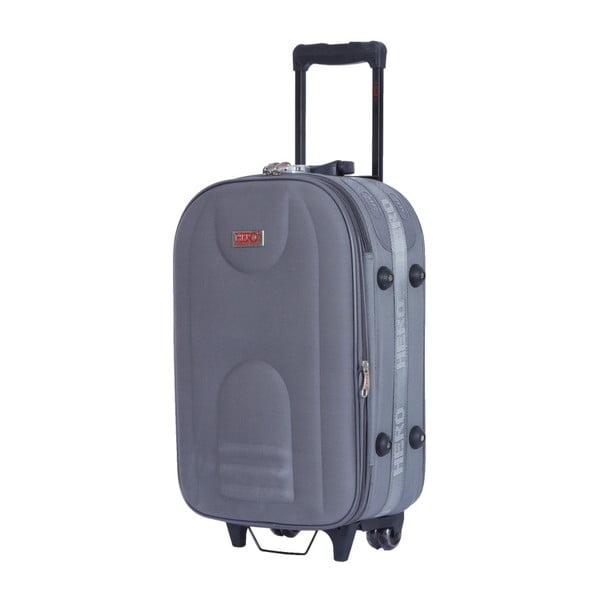 Sada 3 šedých cestovních kufrů na kolečkách Hero Airplane