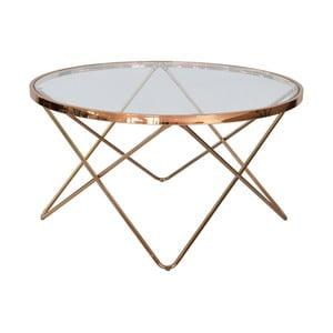Skleněný odkládací stolek RGE Melissa, ⌀85cm