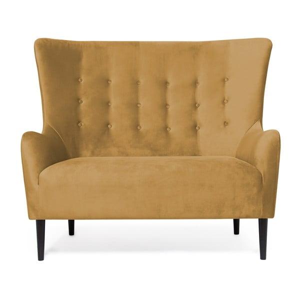 Canapea cu 2 locuri Vivonita Blair, galben închis