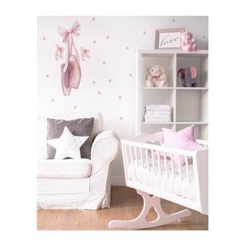 Autocolant pentru perete Dekornik Pink Balerina 55 x 115 cm