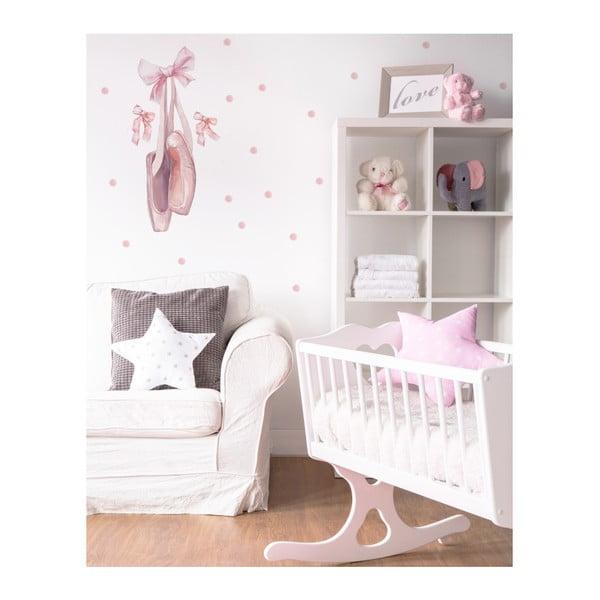 Nástěnná samolepka Dekornik Pink Balerina, 35x73cm