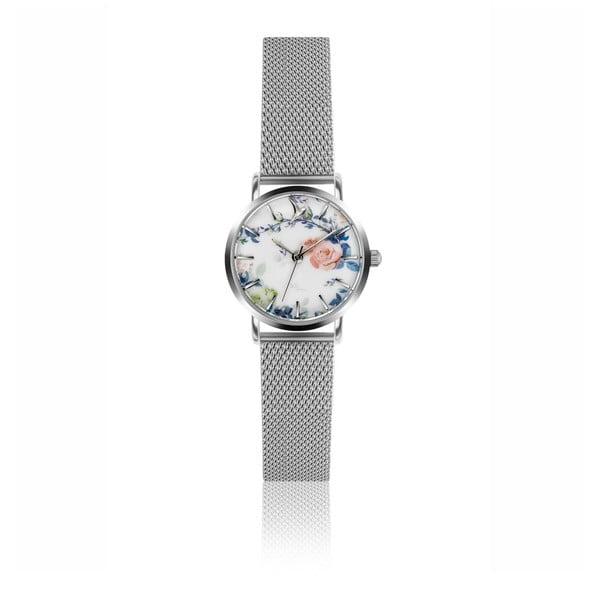Ceas damă cu curea din oțel inoxidabil Emily Westwood Rosa, argintiu