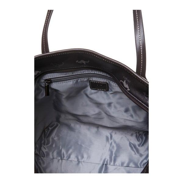 Kožená kabelka přes rameno Canguru Shopper, hnědá
