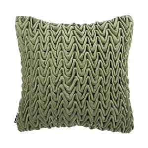 Zelený polštář ZicZac Waves, 45x45cm