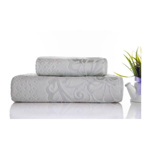 Sada 2ks ručníků Kumsal Water Green, 50x90 cm a 70x140 cm