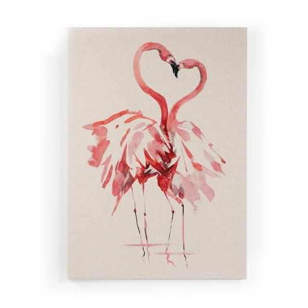 Obraz na plátně Surdic Flamingo, 50 x 70 cm