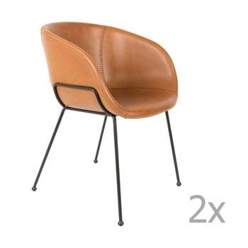 Set 2 scaune Zuiver Feston, maro de la Zuiver