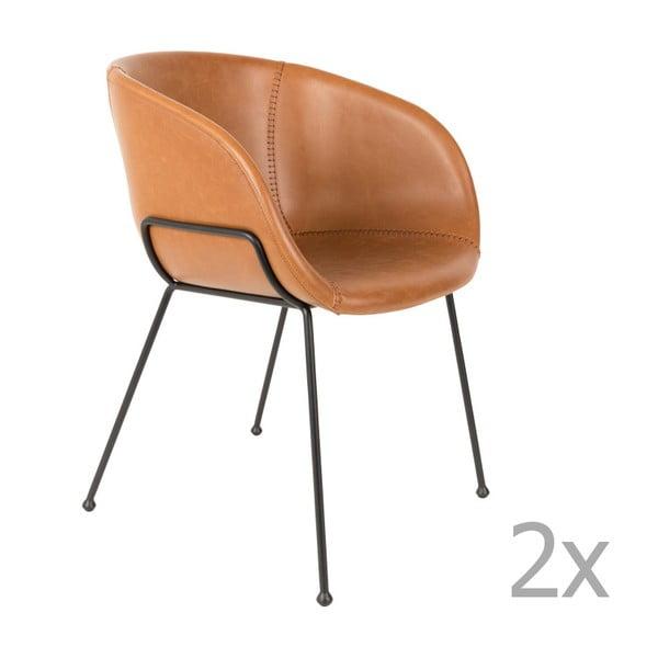 Set 2 scaune Zuiver Feston, maro