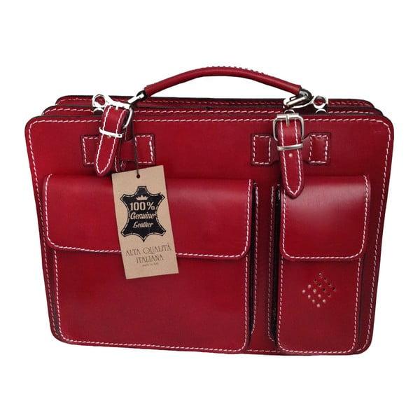 Busy piros bőr aktatáska - Chicca Borse