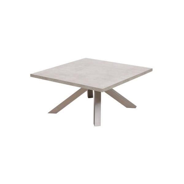 Šedý konferenční stolek Canett Granitz, lesklý