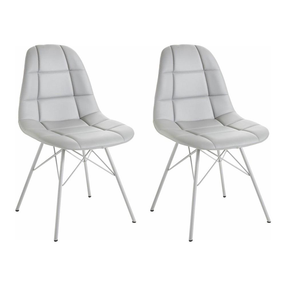 Sada 2 šedých židlí Støraa Sting