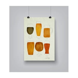 Poster Americanflat Beer Collection, 30 x 42 cm
