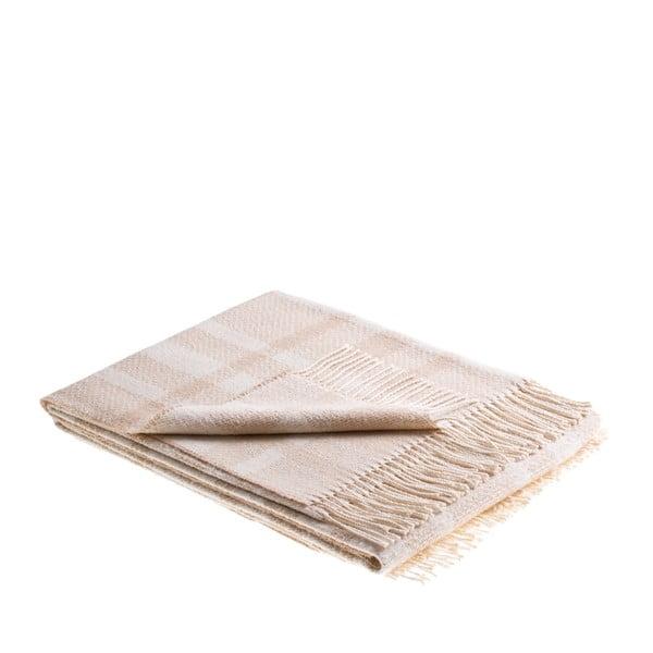 Pléd Antibes 130x180 cm, krémový